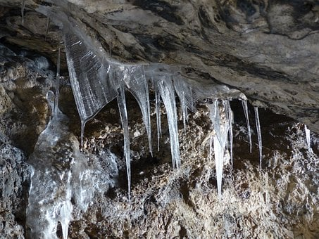 Icicle, Ice, Icy, Cold, Frozen, Bird Stove Cave, Cave