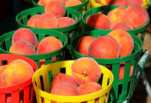 Peaches, Fruit, For Sale, Fresh, Healthy, Sweet, Juicy