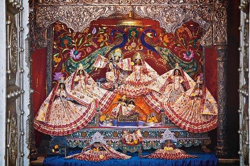 Altar, India, Krishna, Lal, Govardhan, Travel, Asia