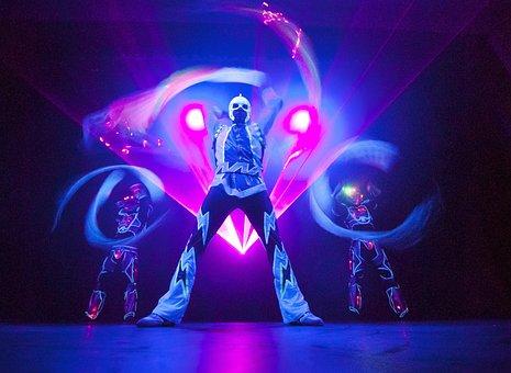 Magician, Light Show, Lightshow, Light Effects, Art