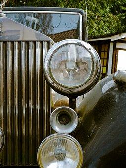 Rolls Royce, Auto, Automotive, Metal, Ornament, Chrome