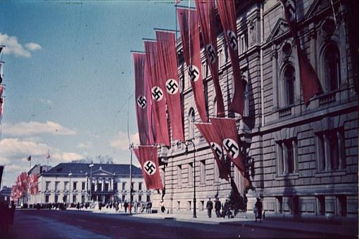Swastikas, Flags, Berlin, Germany, Nazi, Third Reich
