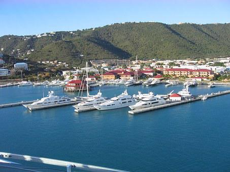 St Thomas, Yachts, Bay, Travel, Sea, Island, Tropical