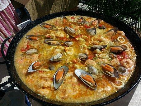 Valencian Paella, Paella, Spanish Paella, Fire, Spain