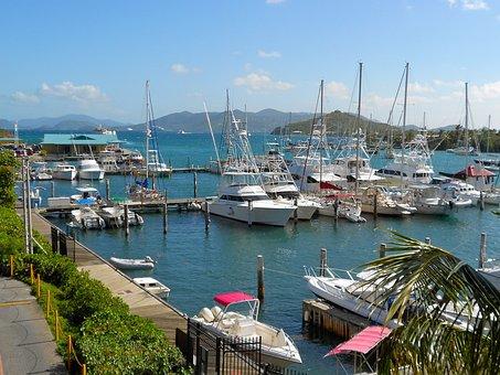 St Thomas, Virgin Island, Boats, Ships, Sky, Clouds