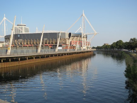 Stadium, Cardiff, River, Ba, Architecture, National
