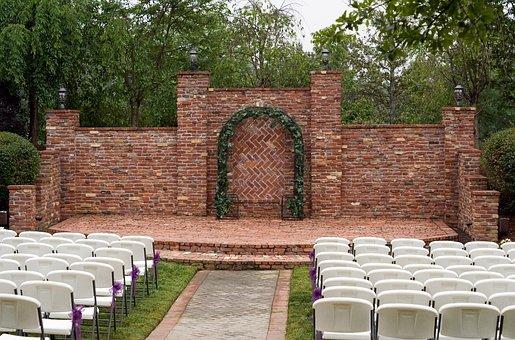 Background, Outdoor, Stage, Brick, Masonry, Wall
