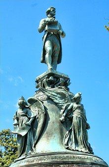 Statue, Bronze, Allegorical, Angels, Thomas Jefferson