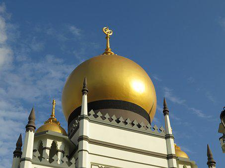 Singapore, Sultan Mosque, Kampong Glam