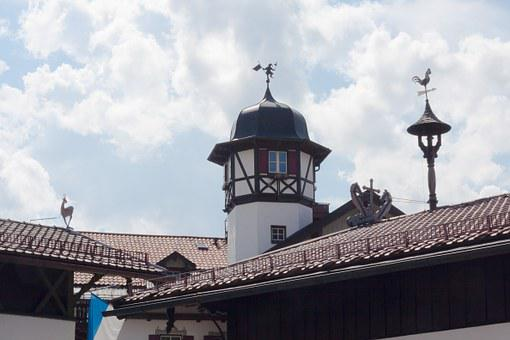 Roof, Tower, Truss, Weathervane, Architecture, Sky