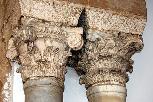 Tunisia, Tunis, Mosque, Capitals, Columns, Architecture