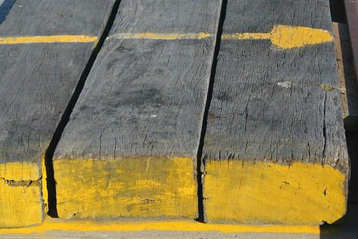 Yellow, Timber, Wood, Jetty, Plank, Boards, Wooden