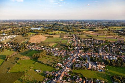 Airphoto, Landscape, Houses, City, Belgium