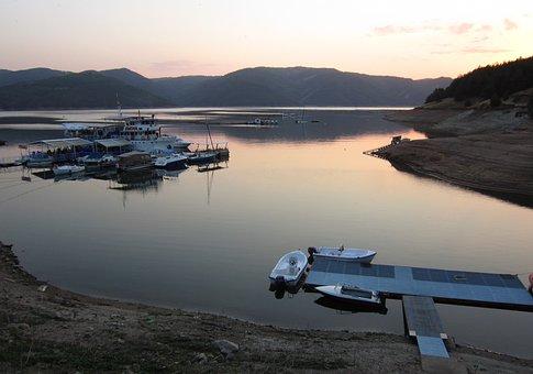 Kardzhaly, Dam, Sunset, Dam Of Kardzhali