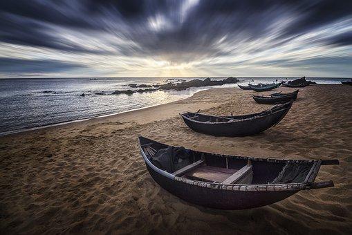 Vietnam, Beach, Seascape, Quang Binh, Duc Trach
