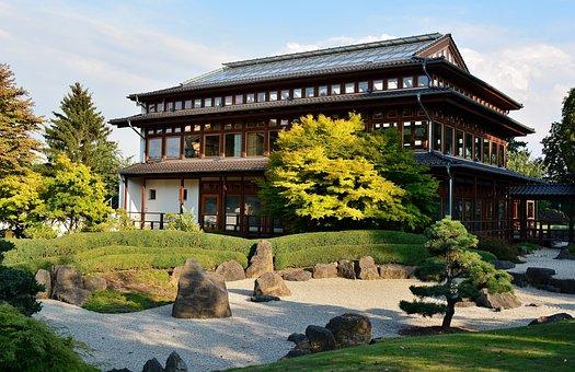 Japanese Garden, Thuringia Germany, Tea House