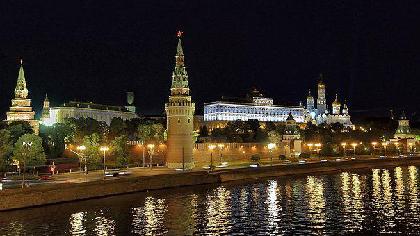 Russia, Moscow, Karunakaran, Moskva River, Architecture