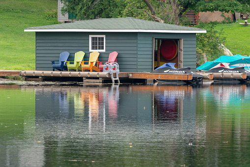 Boat House, Dock, Water, Landscape, Docks, Pier, Lake