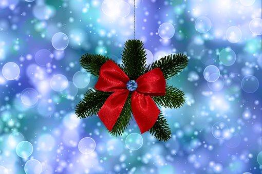 Christmas, Tannenzweig, Loop, Bokeh, Lights, Snow