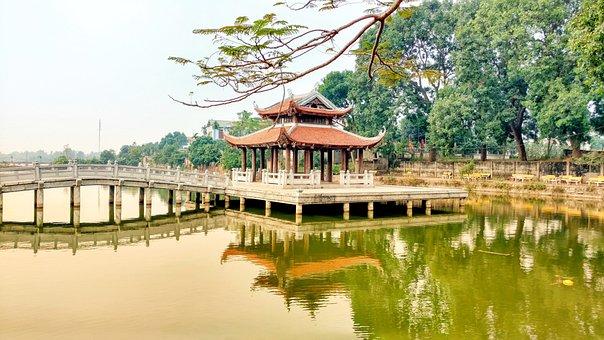 Water, Temple, Outdoor