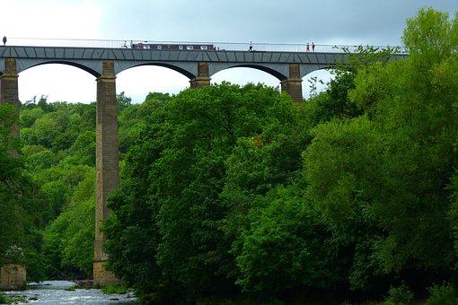 Pontsycyllte, Aqueduct, Canal, Boat, Wales