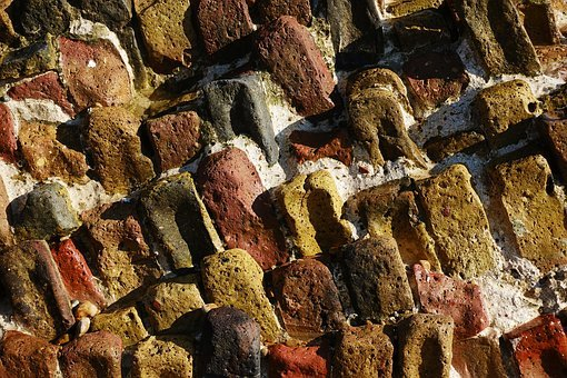 Brick, Worn, Ruin, Erosion, Wear, Construction, Old
