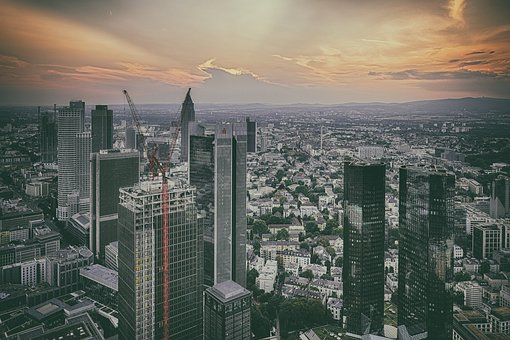 Skyline, City, Cityscape, Skyscraper, Dusk, Twilight