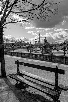 Place, Concord, Bench, Paris