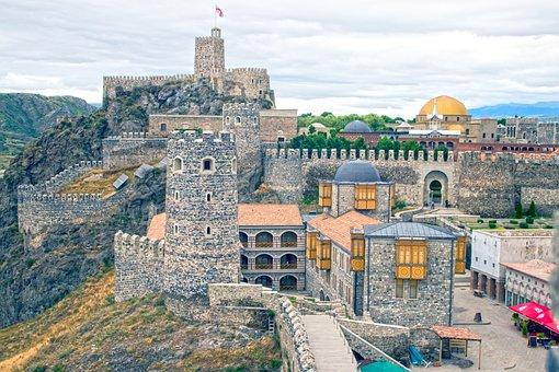 Georgia, Fortress, Akhaltsikhe, Building, Tourism