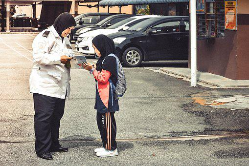 Malaysia, Malaysian, Sekolah, Murid, Hormat, Respect