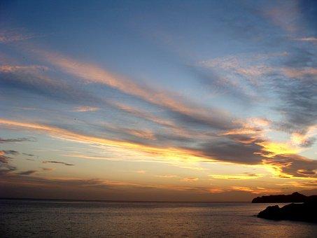 Nature, Landscape, Coast, Sunset, Iberian Southeast