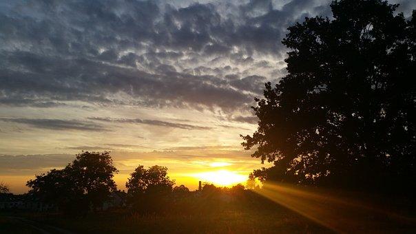 Sun Set, Sunset, Nature