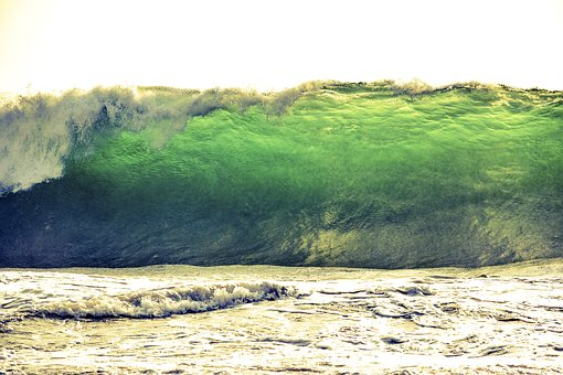 Tsunami, Wave, Sea, Surf, Beach, Ocean, Water, Pacific