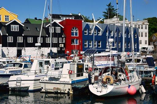 Port, Boats, Color, Vacations, Torshavn
