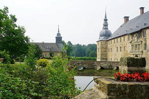 Castle, Wasserschloss, Lembeck, Dorsten, Recklinghausen