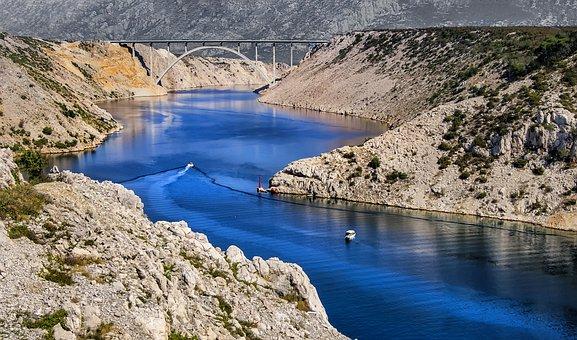 Zrmanja, River, Blue, Nature, Water, Summer, Landscape
