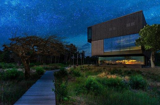 Nature, Landscape, Architecture, Sunset, Blue Hour