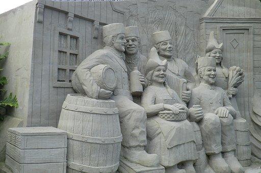Sand Sculptures, Volendam, Art, Sand Sculpture