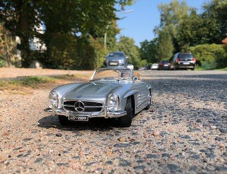 Mercedes, Model, Auto, Toys, Sports Car, Convertible