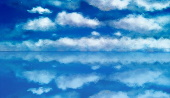 Sky, Blue, Natural, Painting, Background, Wallpaper