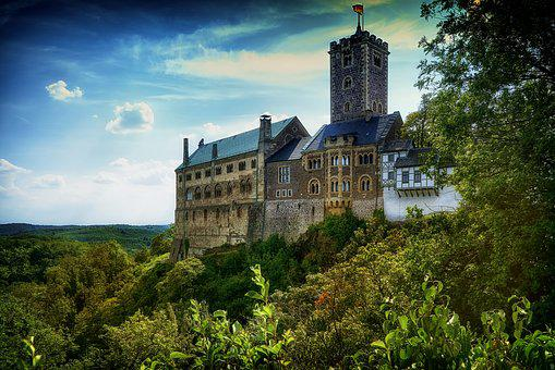 Castle, Wartburg Castle, Eisenach, Thuringia Germany