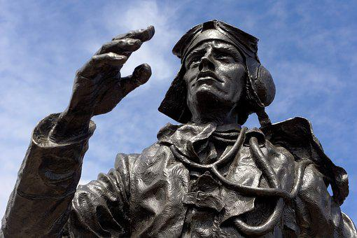 Statue, The Few, Raf, Pilot, Battle Of Britain, Flight