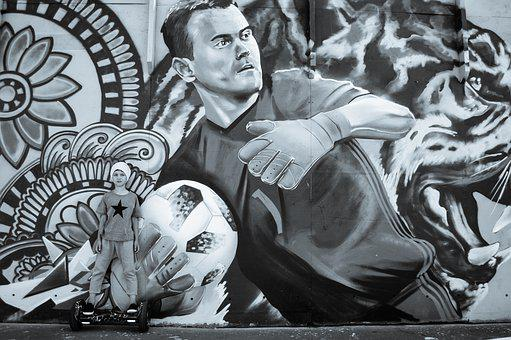 Football, Street Art, Graffiti, Igor Akinfeev