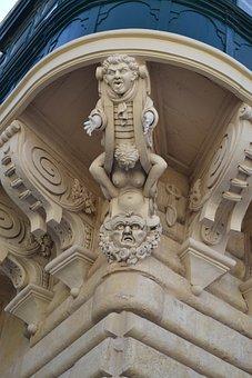 Malta, Building, Architecture, Facade, Mediterranean