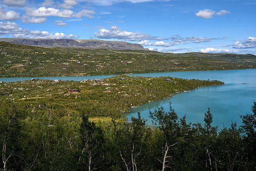 Landscape, Lake, Nature, Water, Sky, Blue, Clouds, Rest