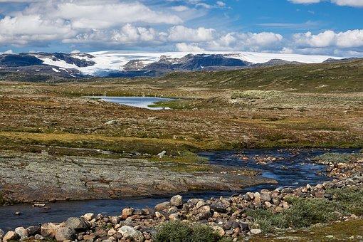 Hardangervidda, Highlands, Norway, Nature, Clouds, Sky