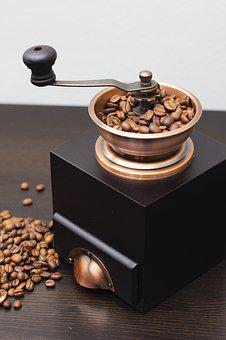 Coffee, Grinder, Drink, Cafe, Caffeine, Wood, Old