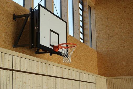 Basketball, Basketball Hoop, Sport, Basket, Gym