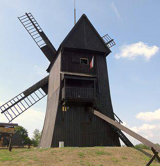 Windmill, The Museum, Mill, Historical, Landscape, Old