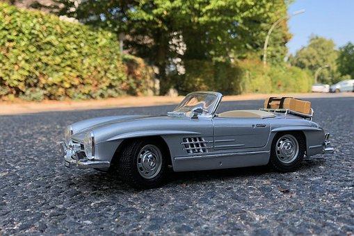 Mercedes, Model, Automotive, 300sl, Toys, Mercedes Benz